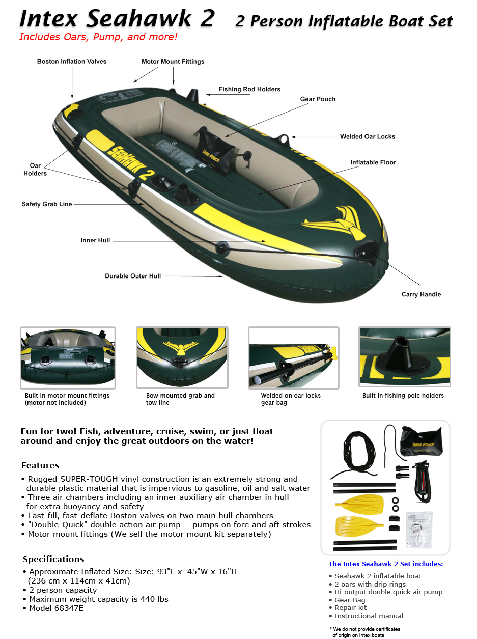 index boat for 2 person