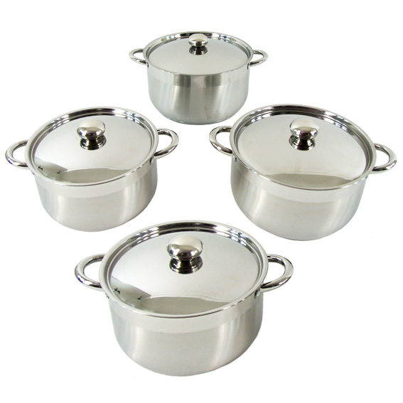 Stainless Steel Cookware Saucepot 4 sets