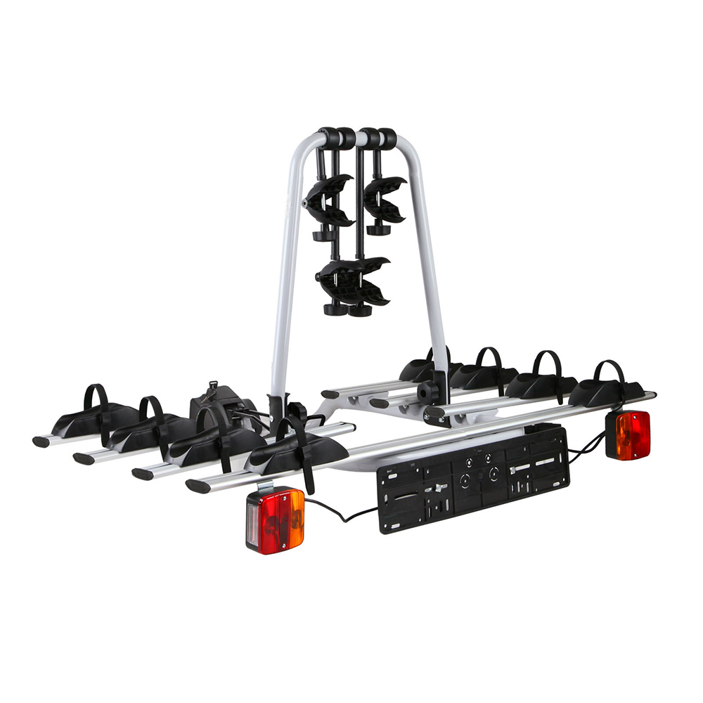 Bicycle Bike Carrier Rack  w Tow Ball Mount Black Silver