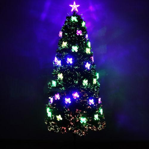 Xmas Christmas Tree Fiber Optic Light