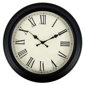 Roman Numeral Wall Clock Metal Casing