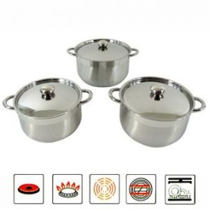 Stainless steel cookware set 6pieces