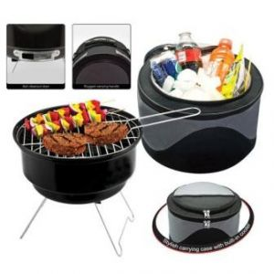 Portable BBQ  Grill Charcoal  With Cooler Bag