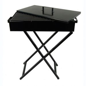 Portable Folding Charcoal BBQ Grill Camping Steel Frame