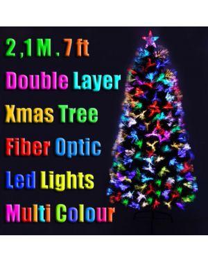 Xmas Christmas Green Tree Optic Fibre LED Multi Colour Lights