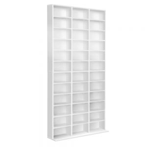 Adjustable CD DVD Book Storage Shelf White