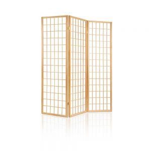 3 Panel Room Divider - Natural