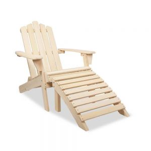 Adirondack chair  ottoman set  - natural