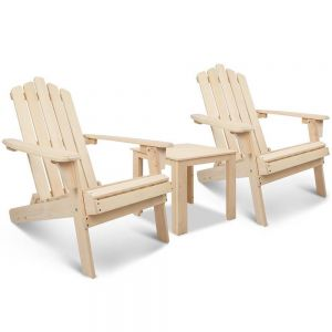 Adirondack chairs  side table  3 piece set - natural