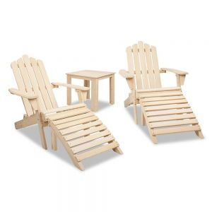 Adirondack chairs  side table  5 piece set - natural
