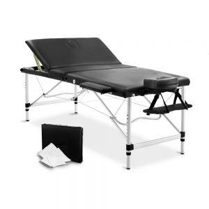 80cm professional aluminium portable massage table - black