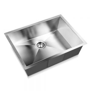 Stainless Steel KitchenLaundry Sink with Waste Strainer 600 x 450 mm