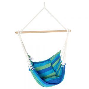 Hammock Swing Chair w Cushion Blue Green