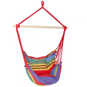 Hammock Swing Chair w Cushion Multi-colour