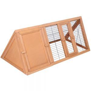 Rabbit Hutch Guinea Pig Chicken Ferret Cage Triangle