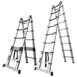 portable aluminium telescopic extension ladder