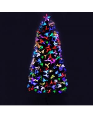 Xmas Christmas Green Tree Optic Fibre LED Multi Colour Lights