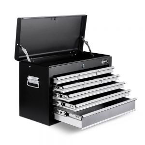 9 Drawers Tool Box Chest BlackGrey