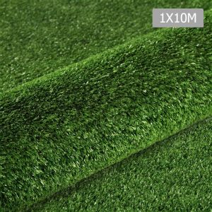 Artificial Grass 10 SQM Polypropylene Lawn Flooring 1X10M Olive Green