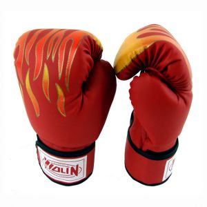 Boxing Gloves Flame Design Red Colour 8 Oz