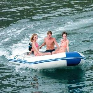 3 PERSON INFLATABLE MOTOR  BOAT