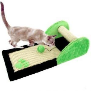 CAT SCRATCHING PAD WITH TOYS