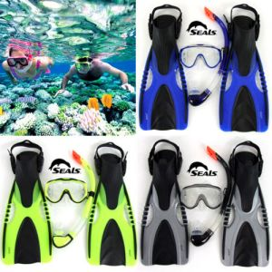 Adult Snorkeling Gear Snorkel Mask Goggle Flippers