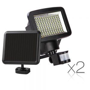 Set of 2 LED Solar Sensor Light 120 SMD