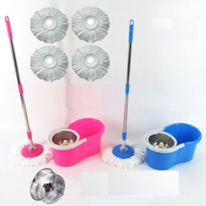 Spin Mop Bucket Stainless Steel Floor Cleaner