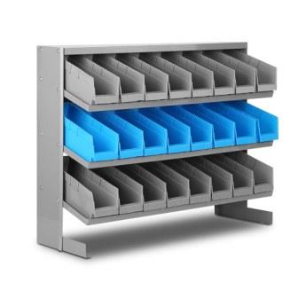 24 storage bin rack stand