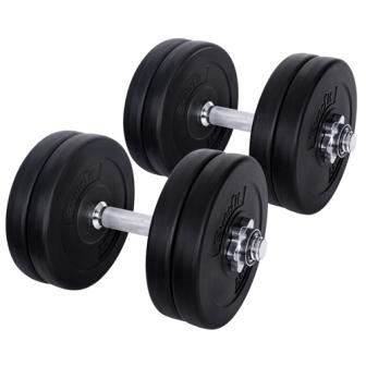 25kg fitness gym exercise dumbbell set