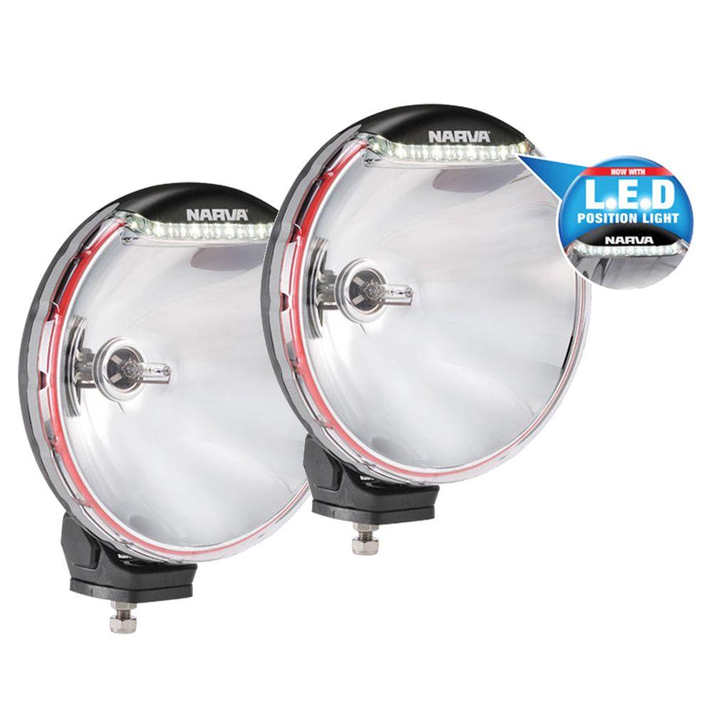Narva 9 inch driving lights kit 12v 50w off road spotlights 71680hid ultima 225 led drl