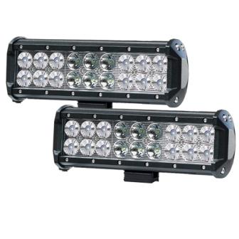 Pair 9inch 54w cree led light bar spot flood combo beam work driving 4wd