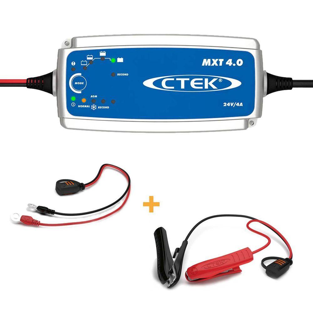 Ctek mxt4 0 smart battery charger 24v 4a mxt 4 0 24 volt batteries 4amp xt4000