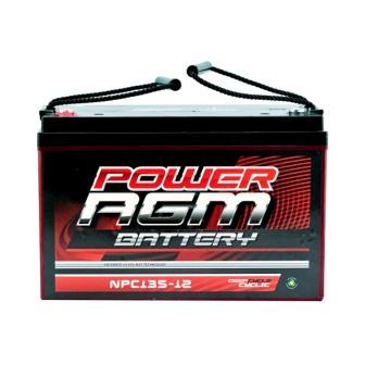 12 volt 12v 135ah amp hour battery agm sla deep cycle dual fridge solar