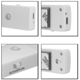 El608 rechargeable infrared motion sensor wall led night light torch cool white