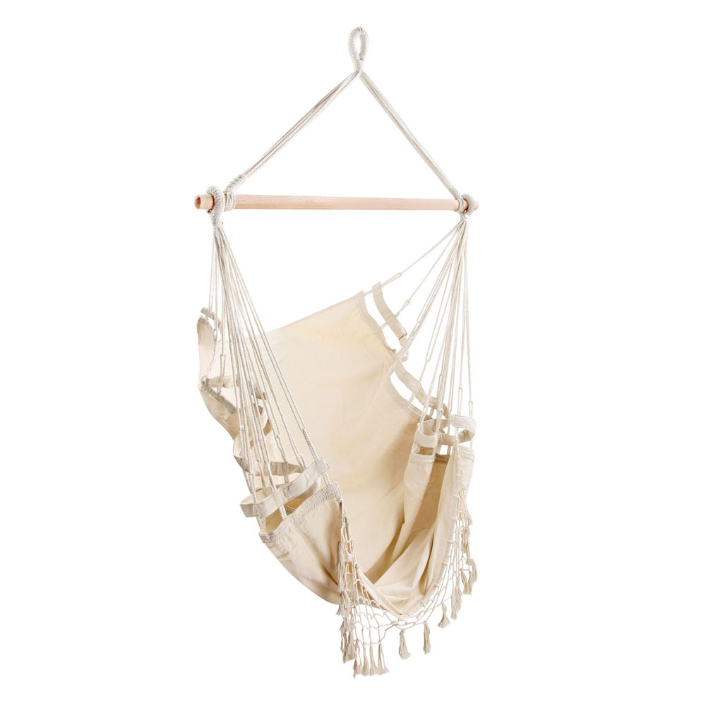 Creamy White Hanging Hammock Chair