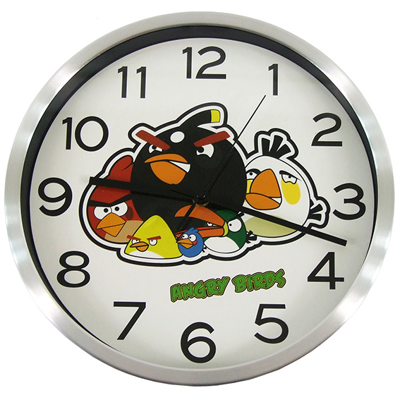 Quartz Angry Birds Children Wall Clock Decoration