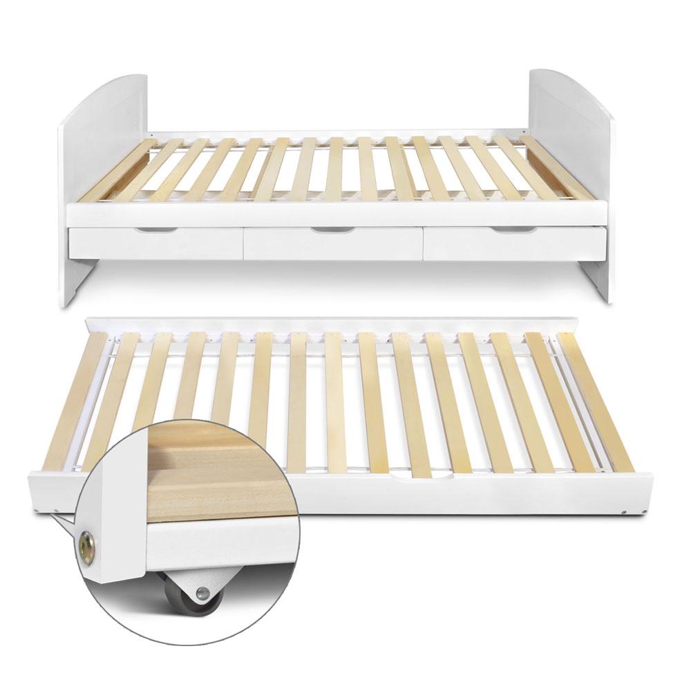 Wooden Trundle Bed Frame - Single