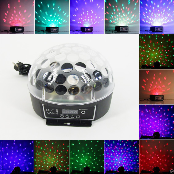 LED Disco Magic Ball Crystal Stage Lighting Effect