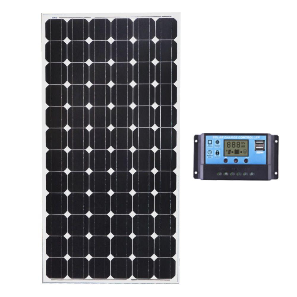200W 12V MONOCRYSTAL SOLAR PANEL  PWM REGULATOR