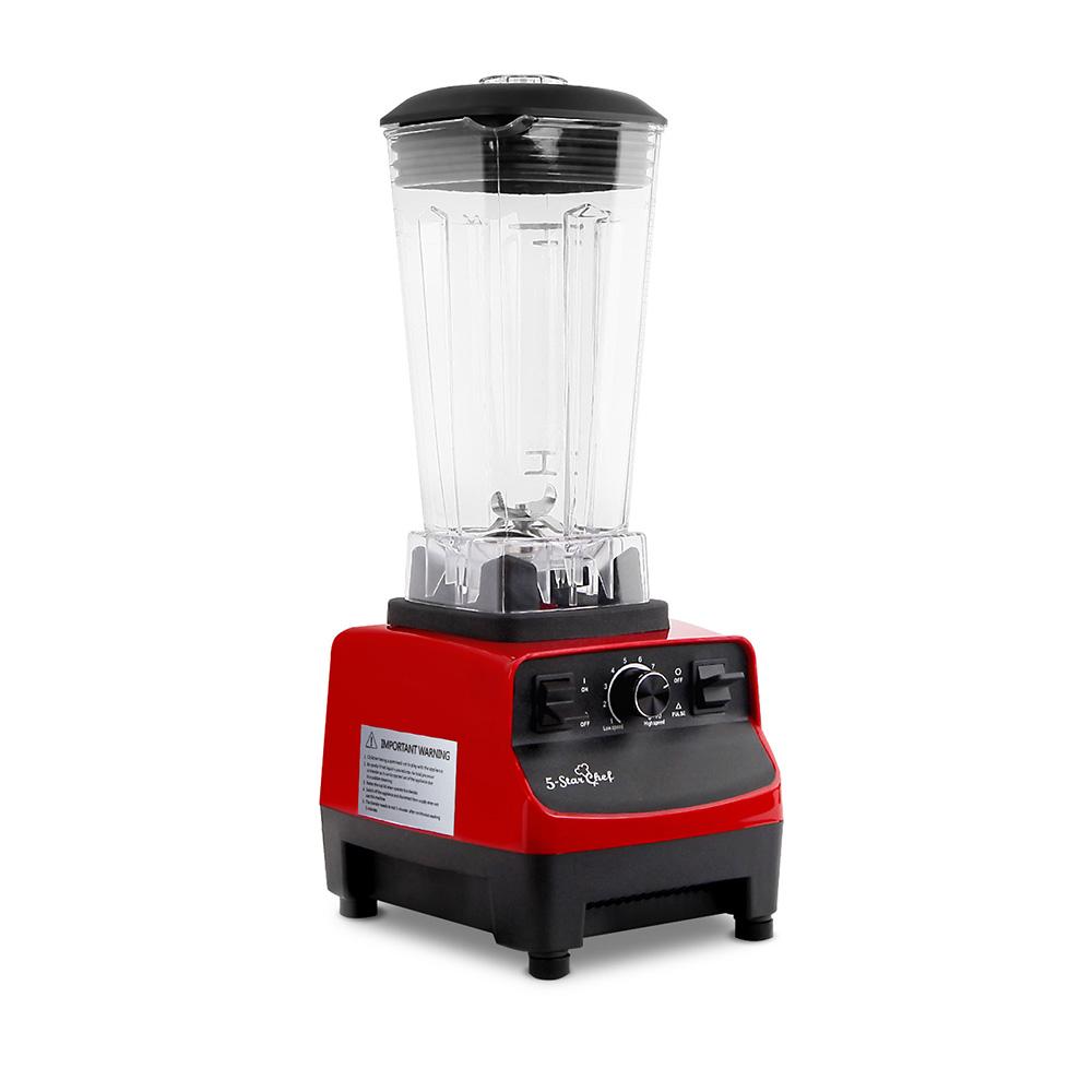 2-in-1 Food Processor  Blender 2L - Red