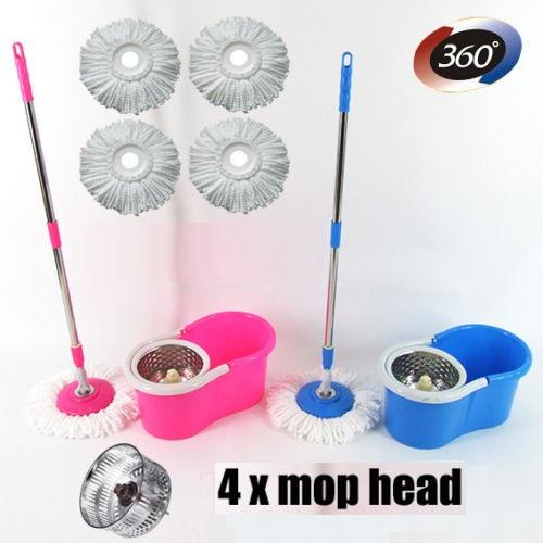 Spin Mop Bucket Stainless Steel Floor Cleaner