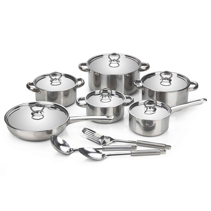 15 Pieces Stainless Steel Cookware Pots   Pan Set - zipPay Available