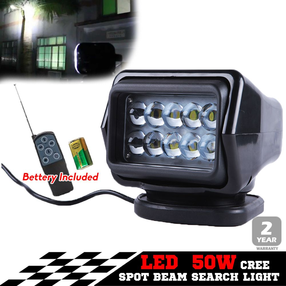 50W CREE LED WORK LIGHT SPOT PENCIL BEAM OFFROAD SEARCH LAMP LIGHT TRUCK 12V