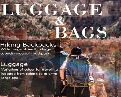 backpack and luggages